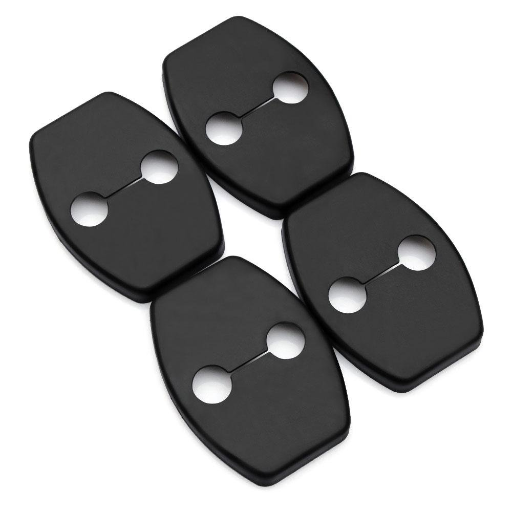 JessicaAlba 4pcs Car Door lock decoration cover Door lock protective cover for Toyota Yaris,Highlander,Prado,Prius,Corolla, Camry 06-11,Rav4 07-12,Reiz,Vois 09-13 (FT01)