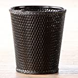 Lamont Home Carter Round Wastebasket, Black by Lamont Limited