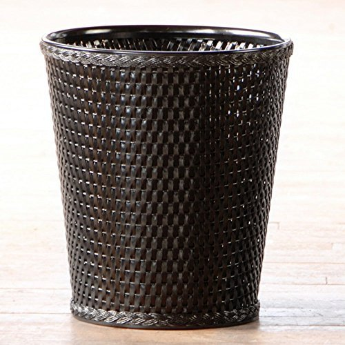 Lamont Home Carter Round Wastebasket, Black by Lamont Limited by Lamont Home