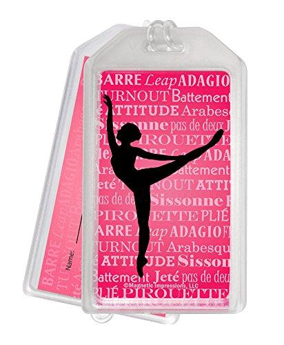 Ballet Dancer Arabesque Luggage Tag - Set of 2