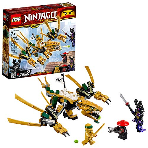 LEGO NINJAGO Legacy Golden Dragon 70666 Building Kit, New 2019 (171 Pieces) -
