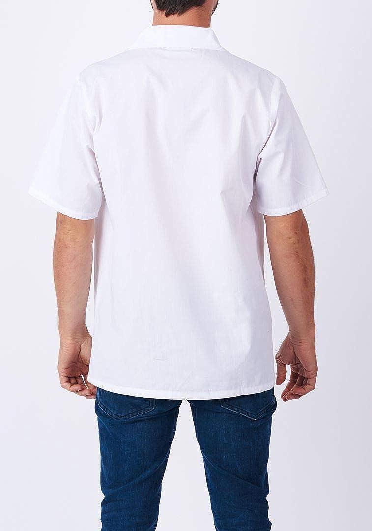 Short Sleeve Utility Shirt White 430WH HILITE Uniform Cook Shirt