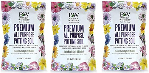 Premium All Purpose Potting Soil, 1.5 cu. ft. Bag (Тhree Pаck)
