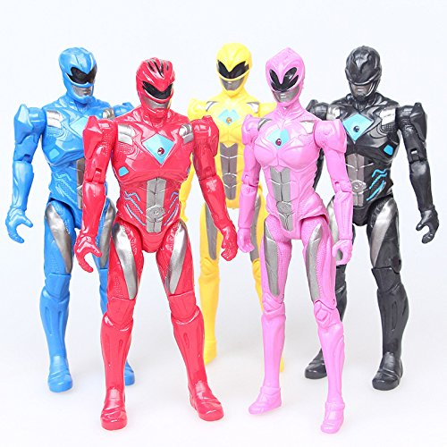 Action Figure Christmas Gifts Doll Toys 5PCS/Lot Power Ranger with The joint can move the toy -