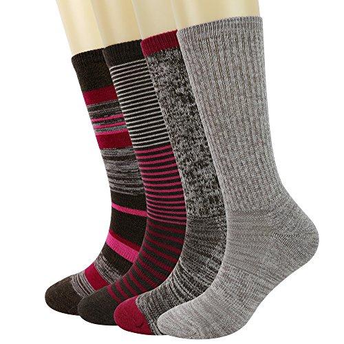 Enerwear 4P Pack Women's Merino Wool Micro Crew Cushion Socks – DiZiSports Store