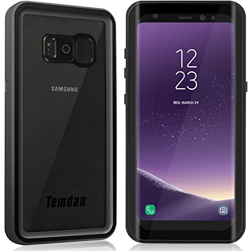 Temdan Samsung Galaxy S8 Waterproof Case Wireless Charging Support Full-Body Protection Built in Screen Protector with Kickstand and Floating Strap Waterproof Case for Galaxy S8