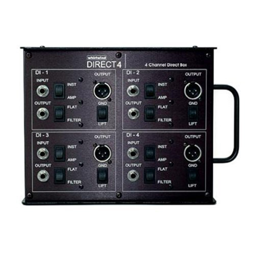 Whirlwind Direct4 4 Channel Direct Box (Mounted In Stage Box) by Whirlwind