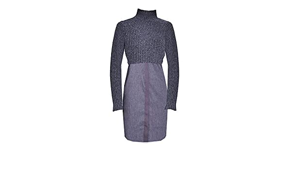 0ec6c2d4fc3 Elie Tahari Raleigh Sweater Dress Charcoal at Amazon Women s Clothing store