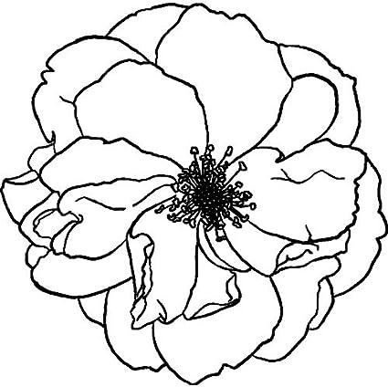 RS00007862 Non mont/é A7 Fleur de Pivoine Tampon
