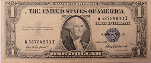 1935 Series F Silver Certificate in Very Good (Silver Certificate Series)