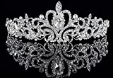 Bridal Wedding Tiara Crown Wedding Tiara Hair Accessories,Silver_1
