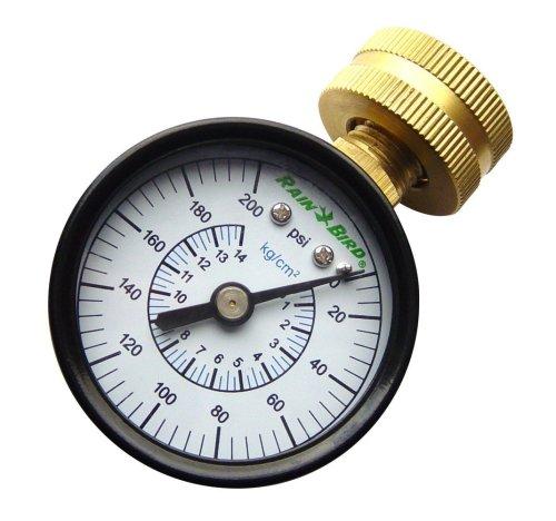 Rain Bird P2A Water Pressure Test Gauge, 3/4' Female Hose Thread, 0-200 PSI
