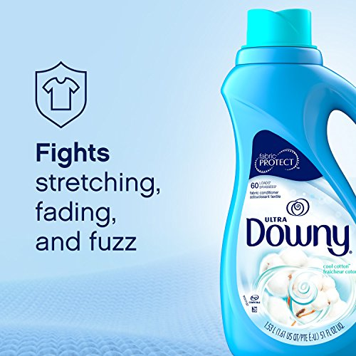 Downy Ultra Liquid Laundry Fabric Softener, Cool Cotton Scent, 120 Total Loads (Pack of 2)