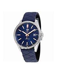 Womens Tag heuer Carrera 39MM Blue Diamonds Quilted Strap WAR1114.FC6391