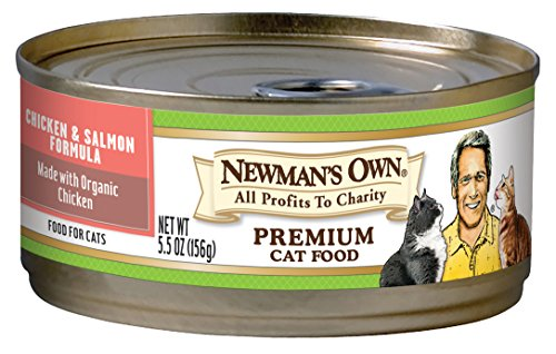 - Newman's Own Organics Chicken & Salmon Formula For Cats, 5.5-Ounce Cans (Pack Of 24)