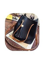FTSUCQ Womens Bucket Tassels Totes Shoulder Messenger Bags Handbags Hobos Two Piece