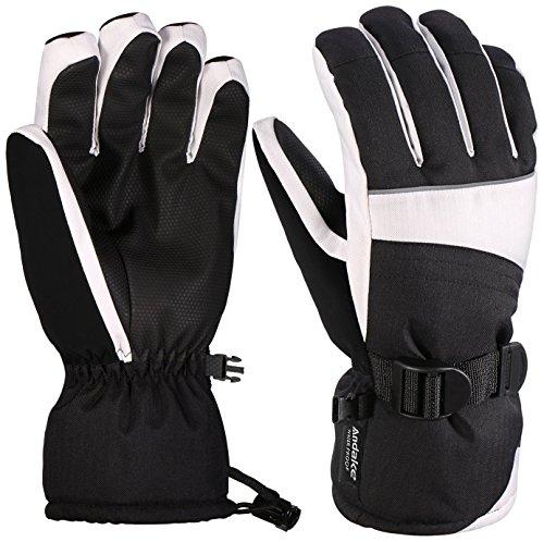 (Andake Ski Gloves, Waterproof 3M Thinsulate TPU Membrane Women's Winter Gloves with Non-Slip PU Palms for Skiing, Snowboarding, Riding, Climbing and Skating)
