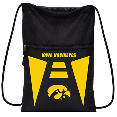 Officially Licensed NCAA Iowa Hawkeyes Team Tech Backpack Backsack, One Size