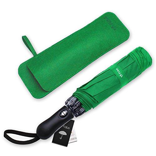 Fidus Inverted Reverse Sun Rain Car Umbrella Large Windproof Travel Uv Umbrella For Women Men   Auto Open Close Green