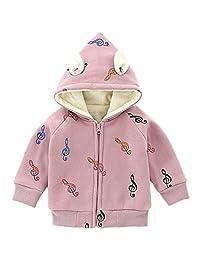 Little Girls Boys Music character Hoodies Kids Sweatshirt Toddler Zip-up Jacket