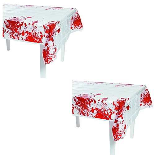 Halloween Party Zombie Blood Tablecover - 54in x 108in (2-Pack) ()