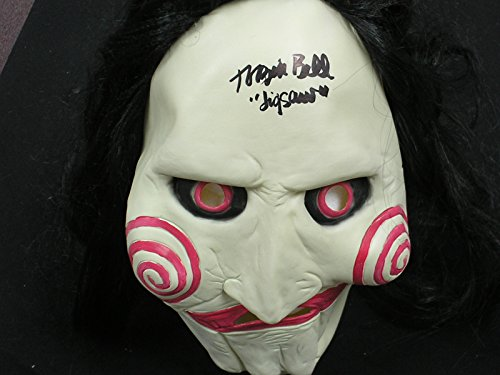 Tobin Bell Signed Jigsaw Latex Mask Autograph BECKETT COA BAS
