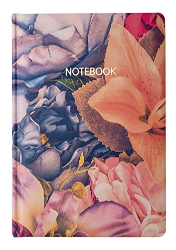 Plain Notebook + 2019 Hardcover Unlined Medium Size A5 Journal 5,8''x8,3'' Soft Thick Paper + Floral Acid-Free Travel Writing Art Sketching Pads + 96 Sheets 192 Pages + Ideal Gift - 7 Decorated Journal