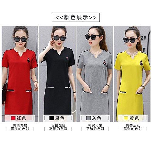 Robes T Jupe Chemisier Moyenne De 2XL Code Courtes Courte Robe MiGMV Shirt Longueur l't Gueules big desserrs Manches de Sport x6pPnEw