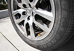 iJDMTOY (4) Tuner Racing Style Aluminum Tire Valve Caps (Gold)