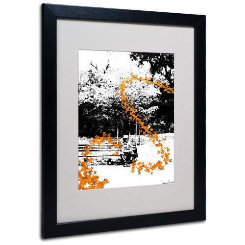 UPC 886511221536, Trademark Fine Art Orange Butterflies Canvas Wall Art by Miguel Paredes, Black Frame, 16 by 20-Inch