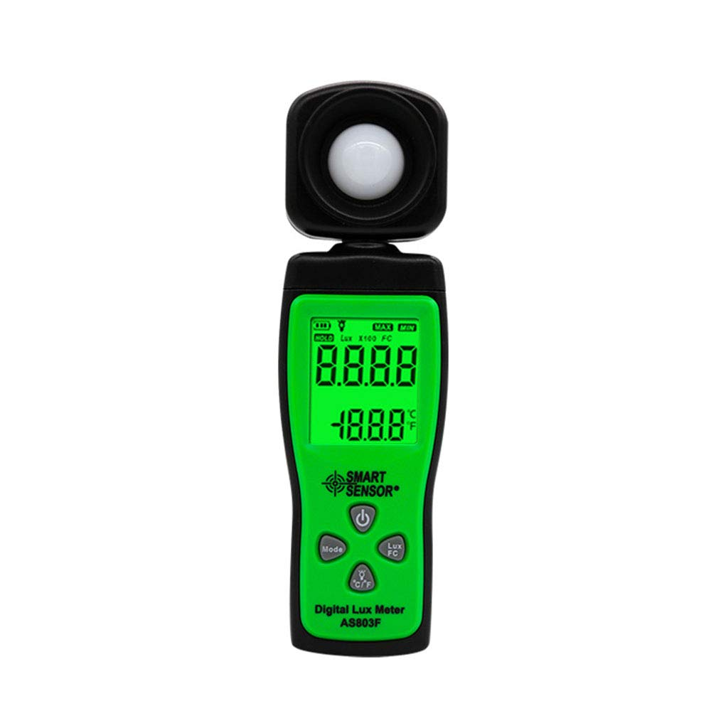 Light Meter Digital Illuminance Meter Handheld Ambient Temperature Measurer with Range Up to 200000 Lux Luxmeter with 4 Digit LCD Screen by Lee Lam