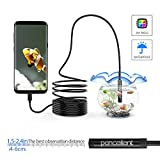Android Endoscope Pancellent 2.0 Megapixels CMOS HD 2 in 1 Waterproof Borescope Inspection Camera Rigid Snake Cable (5 Metes) for Smartphone Tablet Device