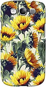 DailyObjects Sunflowers Forever A Painted Pattern Case For Samsung Galaxy S3 White/Cream