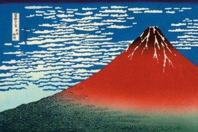 Red Fuji Japanese Print