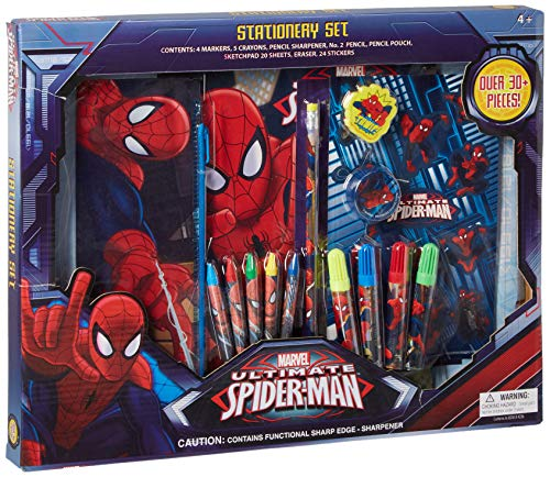 Marvel Amazing Spider-Man 30 Piece Stationery Set - School Supplies, Multicolored -