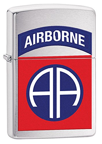 Zippo US Army 82Nd Airborne Brushed Chrome Pocket Lighter ()