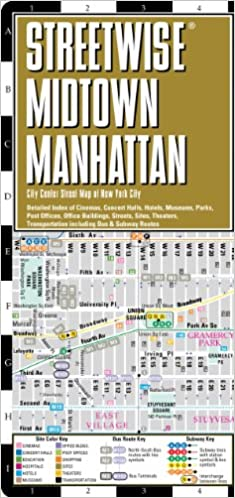streetwise midtown manhattan map laminated city street map of midtown manhattan new york streetwise maps 9780935039047 amazoncom books