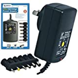 Sansai AC Multi Voltage Power Supply Adapter 1000mA 3v 4.5v 5v 6v 9v 12v DC 1A