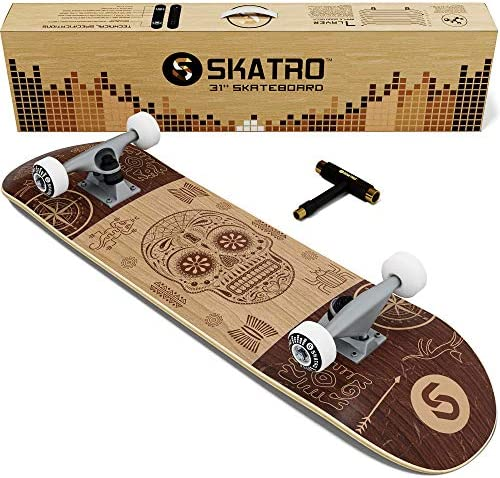 Skatro – Pro Skateboard 31 Complete Skateboard. Skate Board Ages Adults, Boys, Girls, Beginners, and Kids