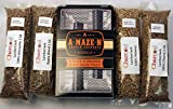 A-MAZE-N PRODUCTS Pellet Smoker Combo Pack Includes 1 lb Each of Lumber Jack 100% Cherry, Hickory, Mesquite & 1lb Apple Blend, 5'' L x 8'' W