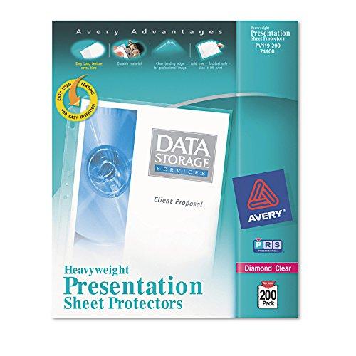 Avery 74400 Top Load Protectors Diamond