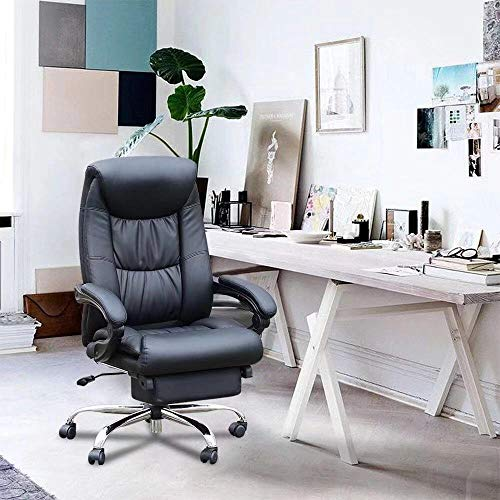 Duramont Reclining Office Chair with Lumbar Support - High Back Executive Chair - Thick Seat Cushion - Ergonomic Adjustable Seat Height and Back Recline - Desk and Task Chair by Duramont (Image #3)