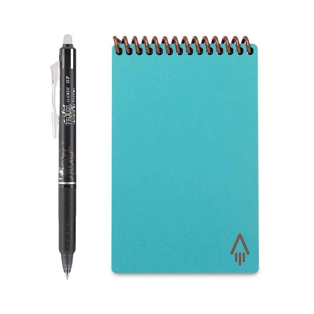 "Rocketbook Everlast Mini Smart Reusable Notebook, 3.5"" x 5.5"", Neptune Teal (EVR-M-K-CCE) 3.5"" x 5.5"" Rocket Innovations Inc."