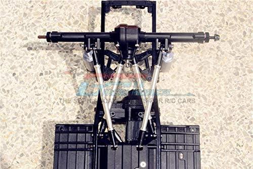 Axial SCX10 II UMG10 Upgrade Parts 8Pc Set Silver AXI90075 Aluminum Adjustable Upper /& Lower Suspension Links