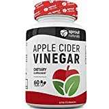 Sprout Naturals Raw Apple Cider Vinegar Capsules Potent Detoxifier, Weight Loss and Metabolism Booster- USA Made