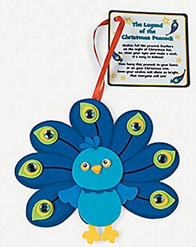 - Peacock Christmas Ornament w/Poem Craft Kit