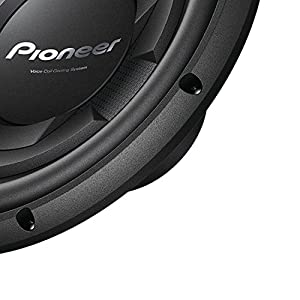 """Pioneer TS-W126M 1300 Watts 12"""" Single 4 Ohm Car Subwoofer Champion Series W/ Class D Mono Amplifier with Wired Bass Boost Remote And 4 Gauge Amp Kit"""