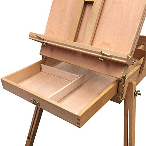 Wooden Sketch Box Portable Folding Art Artist Painters Tripod French Easel