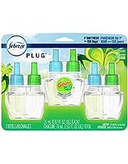 Febreze Plug in ambientador y eliminador de olores, recarga de aceite perfumado, aroma original, 3 unidades
