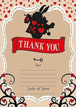 10 tarjetas de agradecimiento para niños de Alicia en el país de las ...